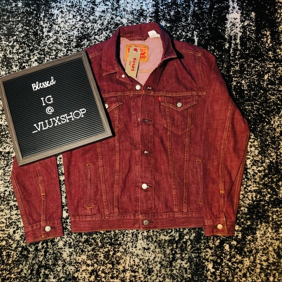Levi's Red Denim Trucker Jacket Men's